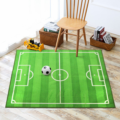Kids Rug Cartoon Football Field Gate Carpet World Cup Stadium Carpets For Living Room