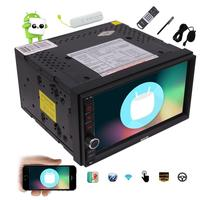 2 din Android 6.0 with GPS Navigation 7'' Touchscreen+4G dongle Double Din Bluetooth WiFi Mirrorlink OBD2 Free Remote car palyer