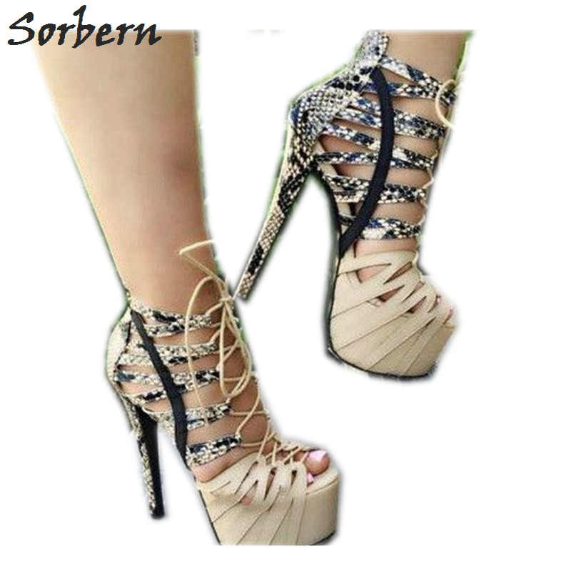 Designer Strappy Heels
