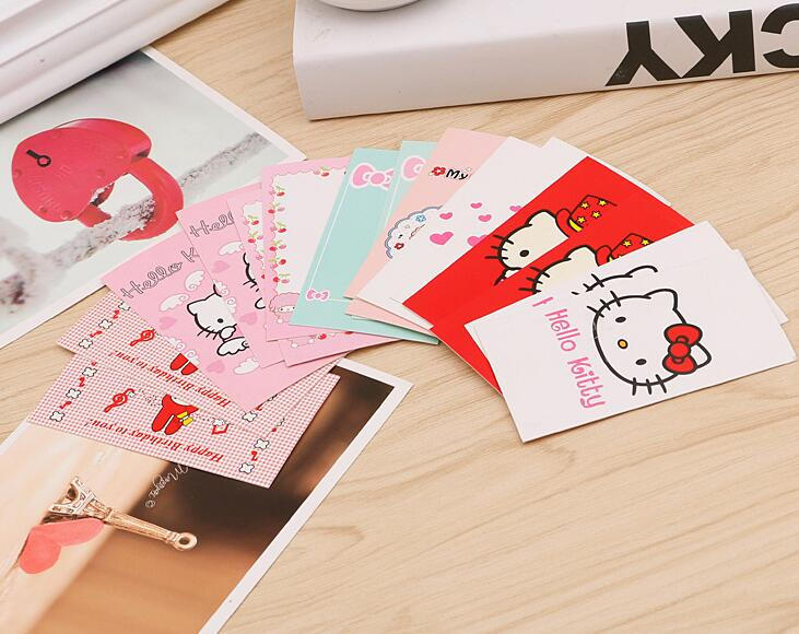 Birthday Cards Cartoon ~ Cartoon hello kitty christmas holdiy letter paper invitation card