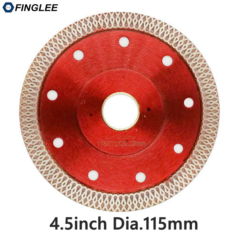 22.23 /115mm Wave Style Diamond Saw Blade for Porcelain tile ceramic Dry cutting aggressive disc marble granite Stone saw blade