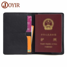 genuine leather russian passport cover id business card holder travel wallet for women a598 50 driving license passport case JOYIR Genuine Leather Men's Passport Cover Wallet Travel Card Case Passport Holder Women and Men's Vintage Business Card Holder