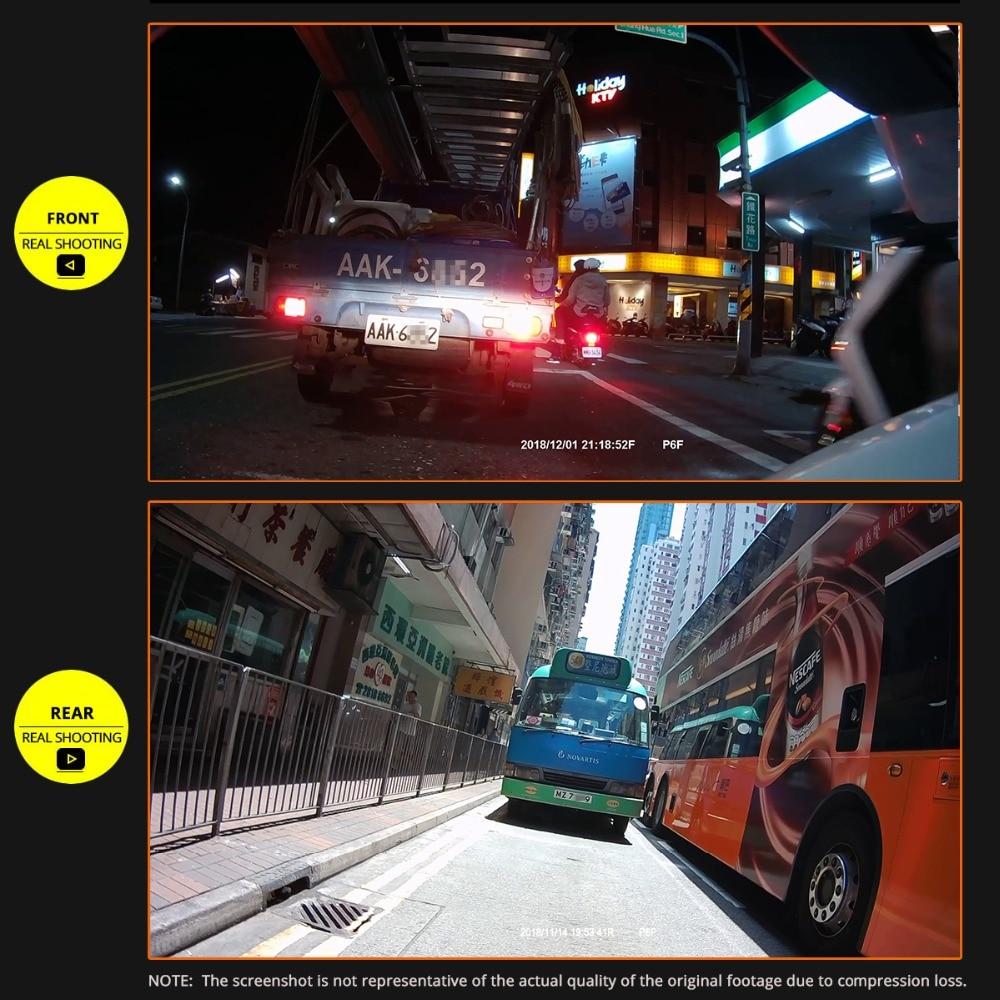 SYS VSYS corps complet étanche moto caméra enregistreur P6FL WiFi double 1080P Full HD moto DVR tableau de bord caméra noir GPS boîte - 5