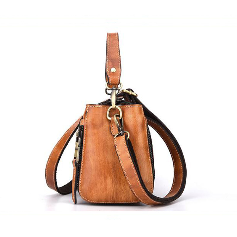 d0e840d3b945d Frauen Tote Designer Crossbody Taschen Vintage 2019 tasche Tasche  Umhängetasche Echtem Weiblichen Marke Mode Chispaulo Brown01 Leder  ZuXTwkPOil