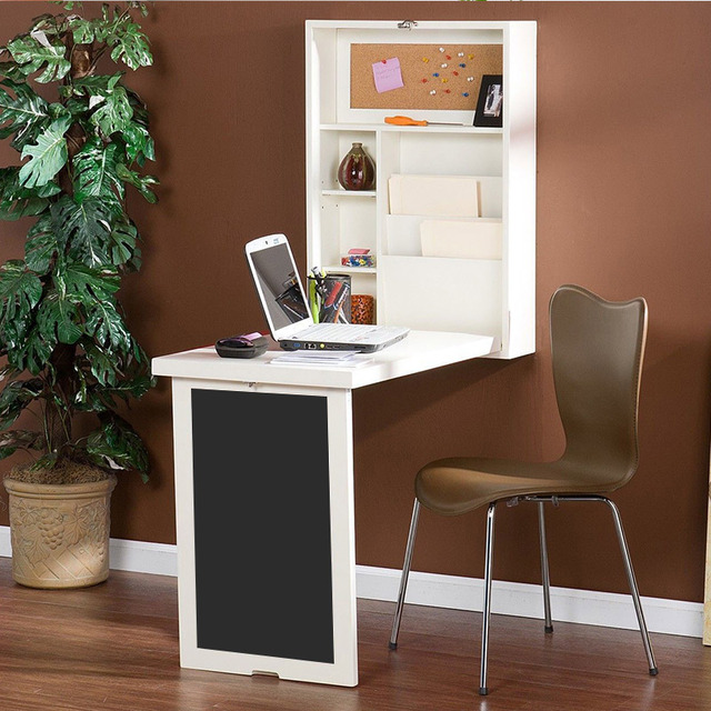 US $1060.5 |Multifunction computer desk folding table wall Continental  bookcase small apartment-in Computer Desks from Furniture on Aliexpress.com  | ...