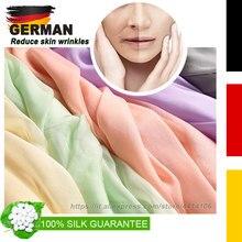 Silk Scarf 100% Luxury silk Long Lightweight Sunscreen Shawls Handkerchief for Women. Red, Orange, Rose, multiple color options
