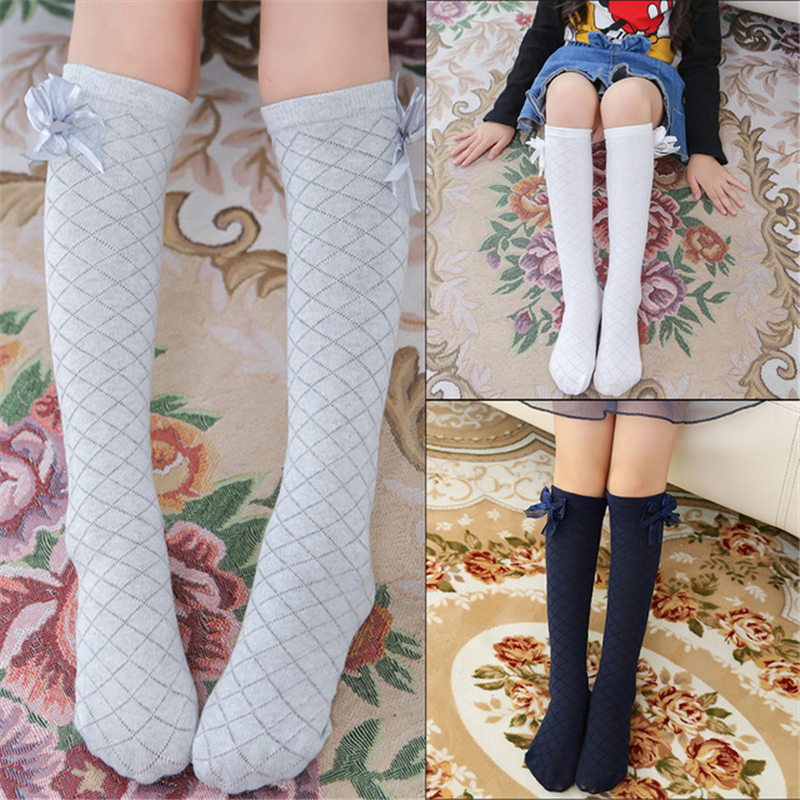 Girl Cotton Middle Socks Grated Knee Little Girl Leotard High Socks Baby Children Cheap Solid Color Socks Children's Pantyhose