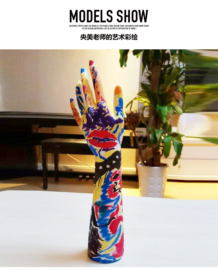 Furnishing decoration <font><b>mannequin</b></font> jewelry ornaments simulation Nail Art Fake Model Watch <font><b>Ring</b></font> <font><b>Bracelet</b></font> Gloves Stand Display <font><b>Hand</b></font> image