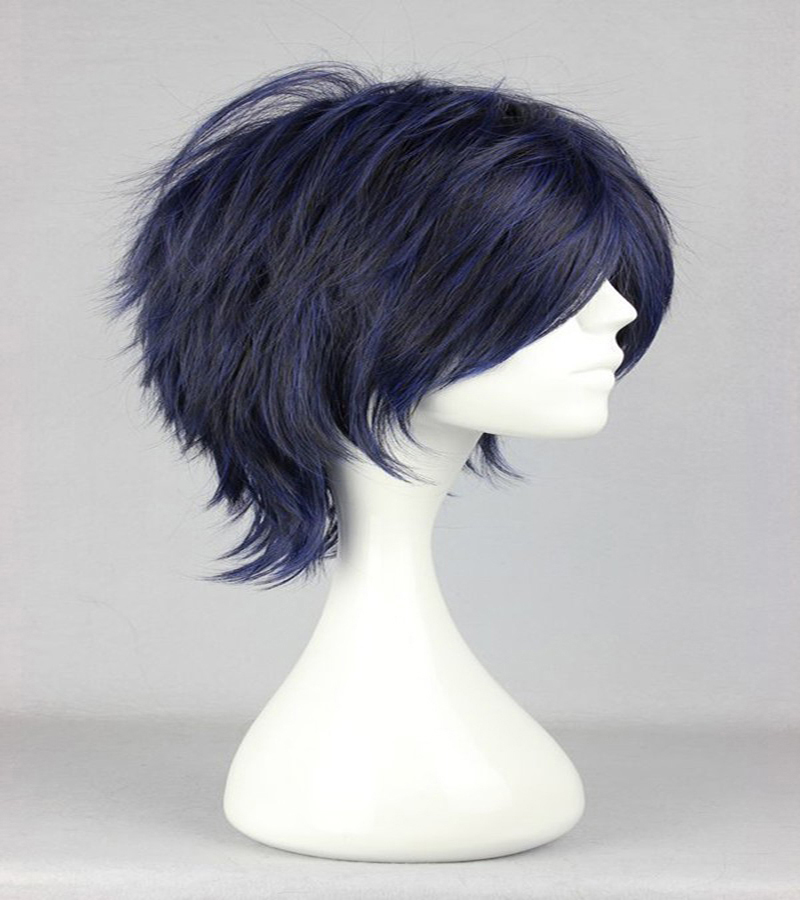 HAIRJOY Synthetic Hair Man Mint Green Layered Short Straight Male Cosplay Wig Free Shipping 5 Colors Available 50