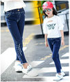 Ребенок гир Джинсы для подростков девочек джинсовые брюки для девочки дети джинсовые брюки дети 2016 зимние теплые брюки для 10 11 12 Y