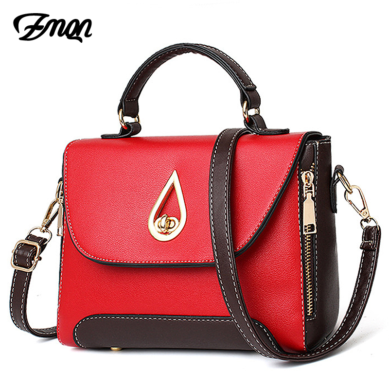 ZMQN Women Crossbody Bags For Women 2018 Famous Brands Shoulder Women PU Leather Handbag Small Women Messebger Bag Flap Red B234