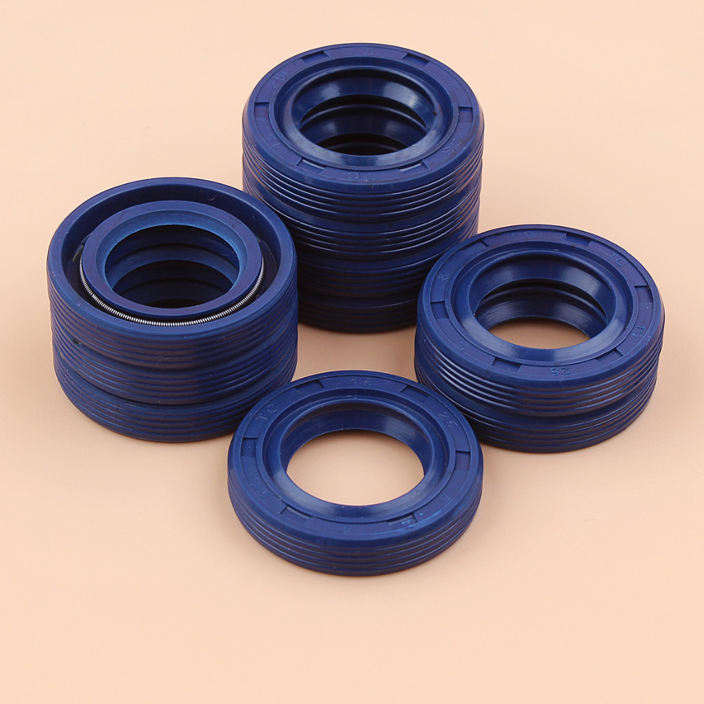 10Pcs/lot Oil Seal Kit For STIHL 017 018 019T 021 023 025 MS170 MS180 MS270 MS190 MS190T MS191T MS211 MS270 MS280 MS311 MS391