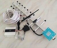 GSM sinyal TEKRARLAYıCı! GSM sinyal booster 900 mhz sinyal amplifikatör için 13dbi yagi ile cep telefonu LCD ekran