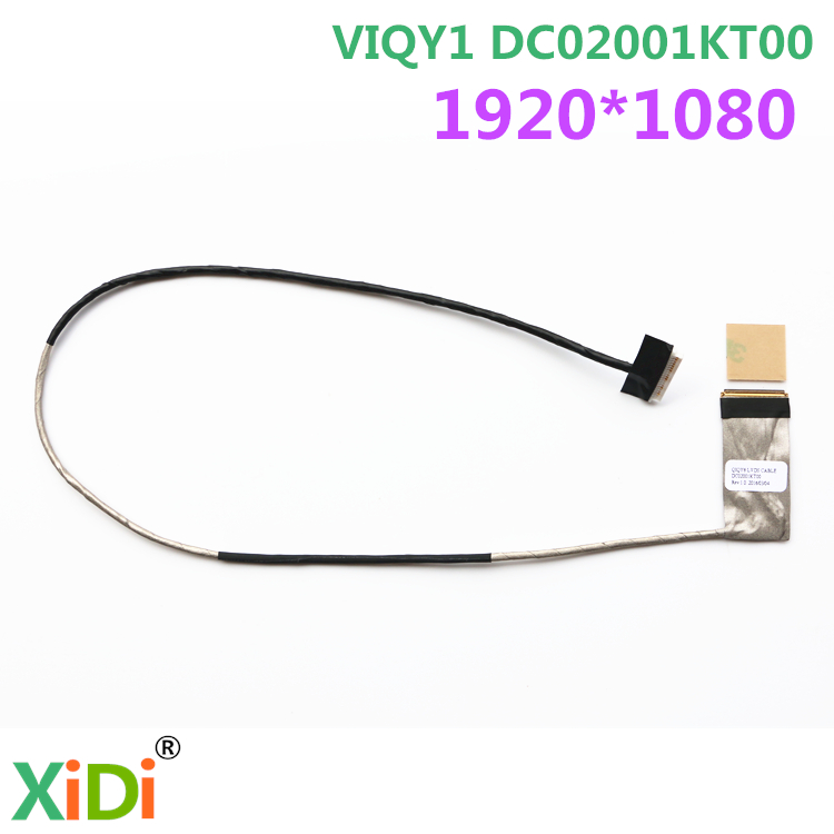 NEW LVDS CABLE FOR LENOVO Y510P 1080P FHD LCD LVDS CABLE VIQY1 DC02001KT00 new original for lenovo g570 g575 lvds lcd video cable dc020015w10