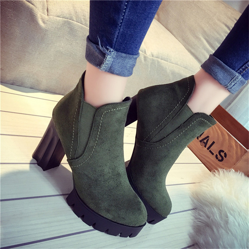 Women Boots Spring Autumn Women Shoes High Heels Boots Fashion Ankle Boots shoes sweet loafers women heels shoes for spring women ballet shoes breathable heels shoes autumn shoes orientpostmark