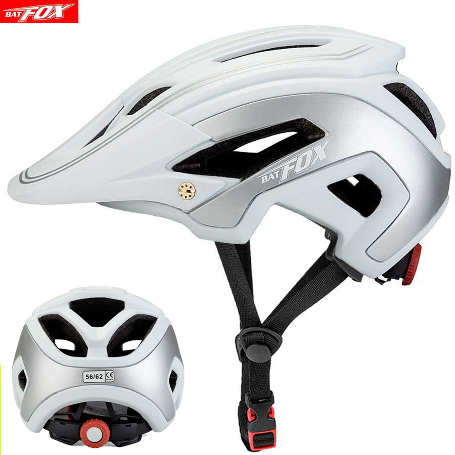 BATFOX Cycling Helmet MTB Road Safty Protction Integrally molded Ultralight Breathable Bicycle Helmet Bike Casco Capacete