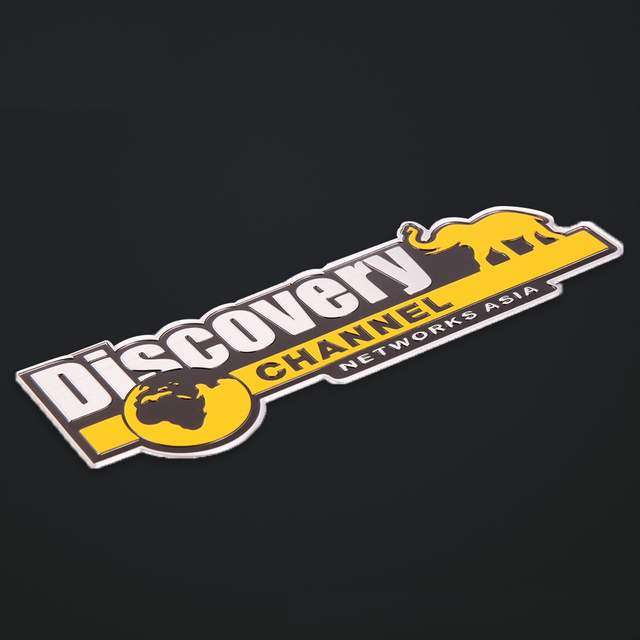 Aluminum Discovery Channel Networks Asia Car Body Rear Trunk Emblem Badge  Sticker For Jeep for Dodge for Land Rover