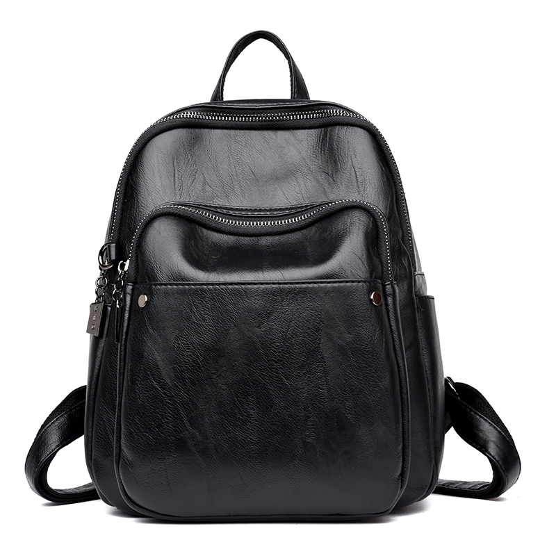 Fashion High Quality Women Backpack Female High capacity Casual Soft Bags Big Bags PU Leather Teenage Girls School Shoulder Bag annmouler women fashion backpack pu leather shoulder bag 7 colors casual daypack high quality solid color school bag for girls