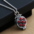 Thai silver 925 sterling silver pendants  silver tibetan gau box pendant Gem Thai silver necklace pendant