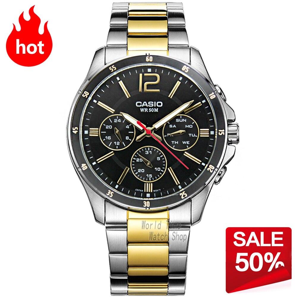 Prix pour Casio watch hommes sport waterproof quartz lumineux montre mtp-1374sg-1a 7a mtp-1374d-2a 7a 1a mtp-1374l-7a 1a