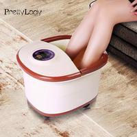 Temperature Spa Bath Massager Automatic Massage Rollers Heat Foot w/ Wheels