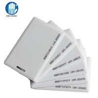 5/10/25/50/100 pces 125 khz rfid em cartão de identificação tk4100 clamshell cartão 1.8mm espessura cartão de identificação com 64 bits para acesso à entrada