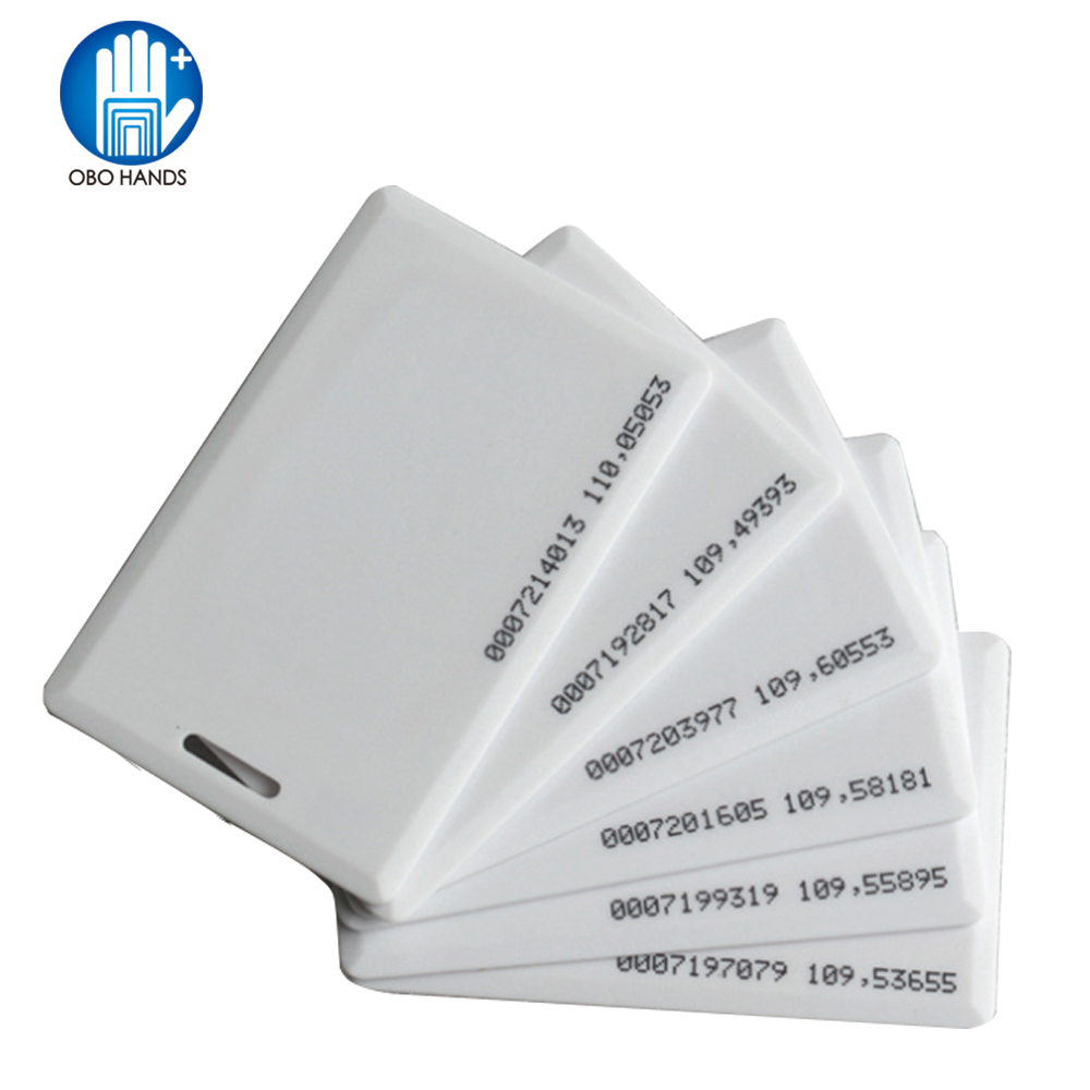 5/10/25/50/100pcs 125KHz RFID EM ID CARD TK4100 Clamshell Card 1.8mm Thickness Proximity ID Card With 64 Bits For Entry Access
