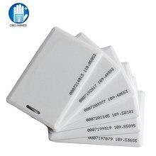 Cartão de identificação 100 khz rfid, 5/10/25/50/125 peças em cartão tk4100 clamshell 1.8 cartão de identificação de proximidade de espessura de mm com 64 bits para acesso de entrada