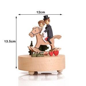 Image 5 - Nuovo Carousel Music Box di Legno Mestieri di Base di Music Box Retro Della Decorazione Della Casa di san Valentino Creativo Regalo Di Compleanno Scatola