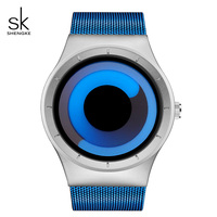 SK Originals Women Watches 2017 New Luxury Stainless Steel Wrist Watches Blue Rotating Time Creative Relogio