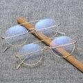 Maskros Ronda Gafas de Equipo Marco de Oro para Hombres Mujeres Marcos de Anteojos Ópticos Gafas para Mujer Grado Puntos 50mm Mujeres de