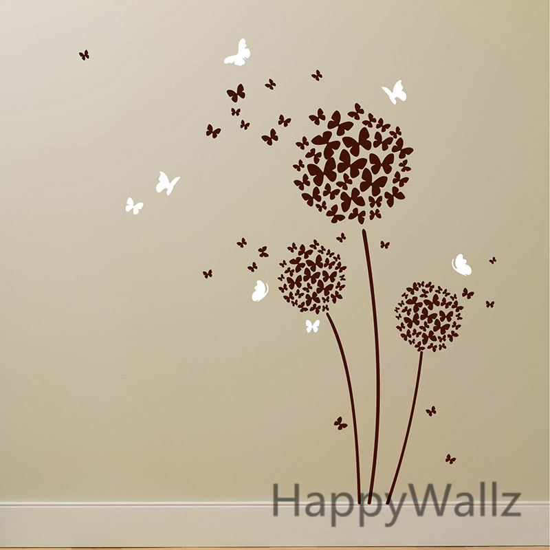 Lovely Aliexpress.com : Buy Flower Wall Sticker Butterfly Flower Wall Decal DIY  Removable Butterflies Flower Wall Stickers Removable Easy Wall Art F6 From  Reliable ... Photo