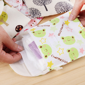 Image 2 - 1 Ps Brief Cute Animals Bear Frog Tree Design Earphone Coin Data Line Sanitary Towel Home Office Drawer Organizers Storage Bag