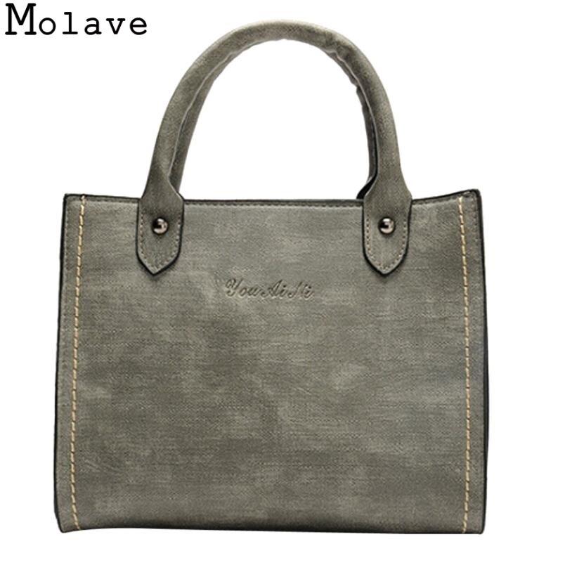 Molave Borse di Cuoio di Modo delle Donne tote bag Sacchetti di Spalla con Corssbody Bag & Borsa femminile borse bramd 17Jan1