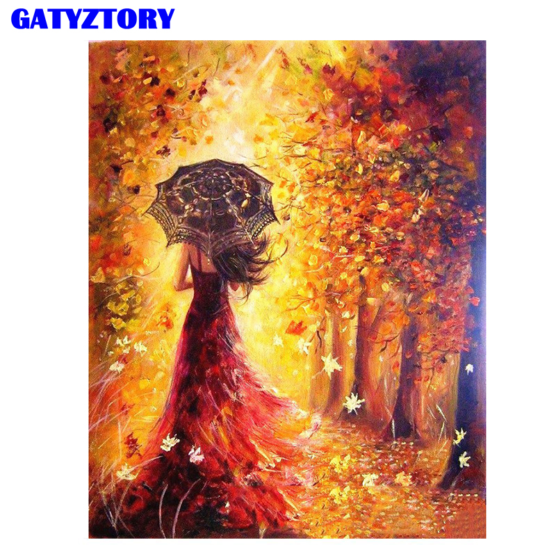 Frameless Abstract Figure Painting DIY Painting By Numbers Modern Wall Art Picture Hand Painted Oil Painting For Home Decoration
