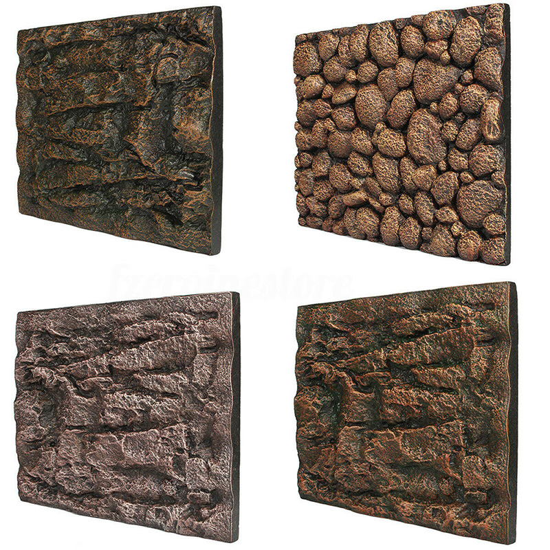 1pcs Fish Tank Background Wall 3D ReptileTerrarium Vivarium Aquarium Foam Rock Stone 60 X 45 X 3cm