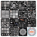 15 Unids/set NACIDO PRETTY 6*6 cm Square Nail Art Sello Placa de la Imagen Plantilla Bonita BP-X01 ~ X15