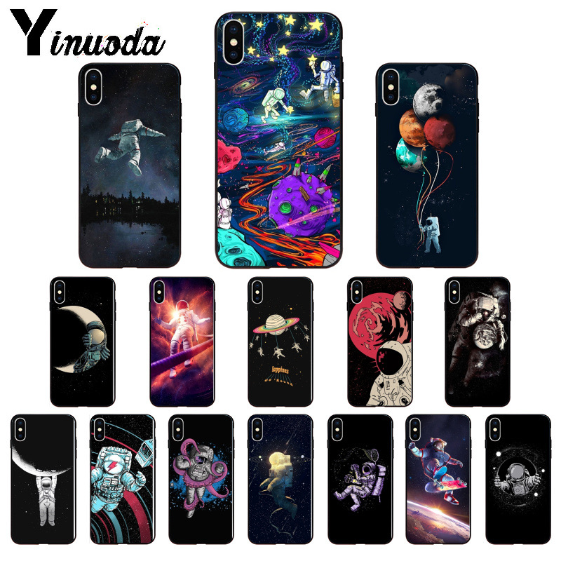 Yinuoda Space Moon Astronaut Tpu Soft Black Phone Case Cover For Apple Iphone 8 7 6 6s Plus X Xs Max 5 5s Se Xr Cellphones Relieving Heat And Thirst. Cellphones & Telecommunications