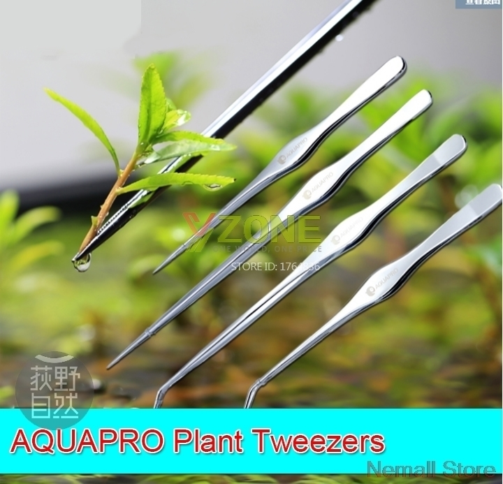 Aquapro 25cm 33cm Class 1 Mirror Surfice Stainless Plant Tweezers Never Rust