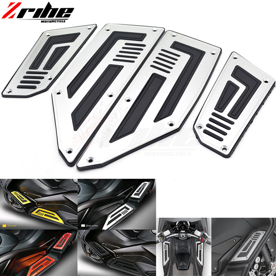 for Motorcycle CNC Aluminum Footboard Steps Motorbike Foot For YAMAHA TMAX530 2012-2016 Footrest Pegs Plate Pads 2013 2014 2015 new style motorbike cnc engine oil filler cup cap plate brake bracket for yamaha t max500 max500 t max530 tmax530 tmax 500 530