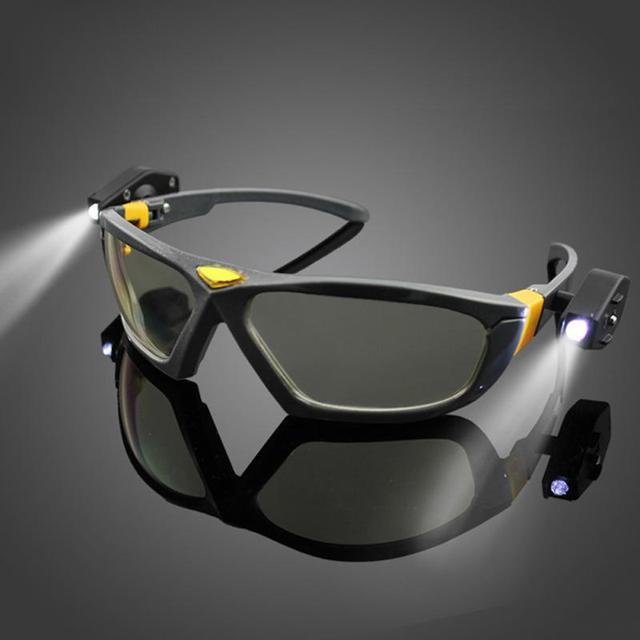 d2435fc921a LED Lighting Reading Glasses Eyewear Night Ride Glasses Super Bright Goggles