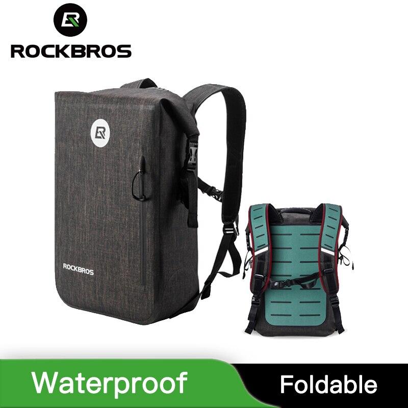 ROCKBROS 24L Cycling Bike Backpack Casual School Bags Waterproof Bike Bicycle BagOutdoor Travel Hiking Camping Sport