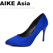 2019 HOT Summer Women Shoes Pointed Toe Pumps Suede Leisure