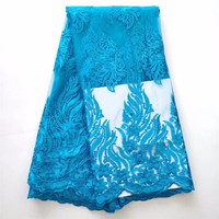 WH 5yards Lot 2018 High Quality Nigerian French Lace African Lace Fabric For Party Dress Africa