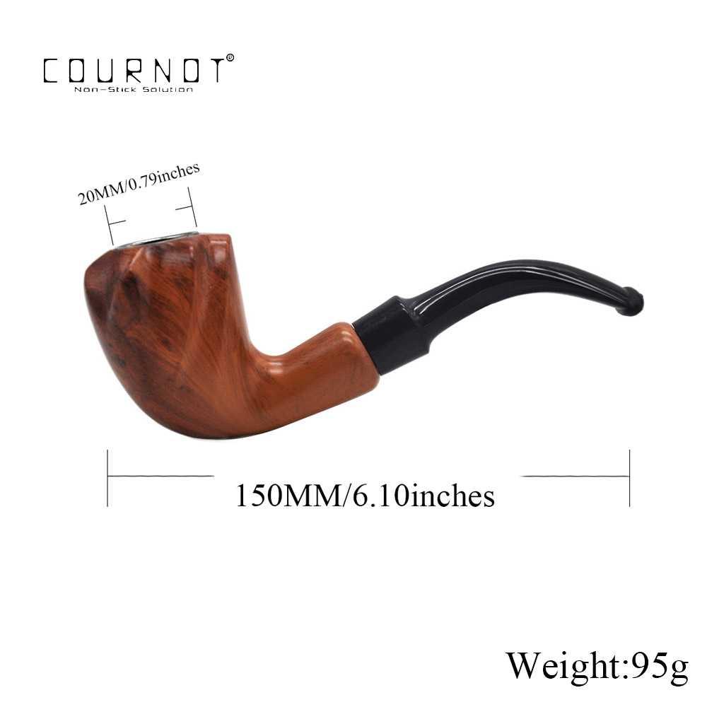 COURNOT クラシック手作りたばこパイプ 150 ミリメートル金属ボウル樹脂喫煙パイプたばこタバコ葉巻パイプホルダー