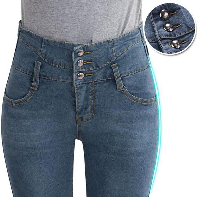 Trousers Jeans For Women 2017 Denim Jeans Woman Blue High Waist Women's Jeans Femme Pencil Skinny Women Jeans Pants Show Slim