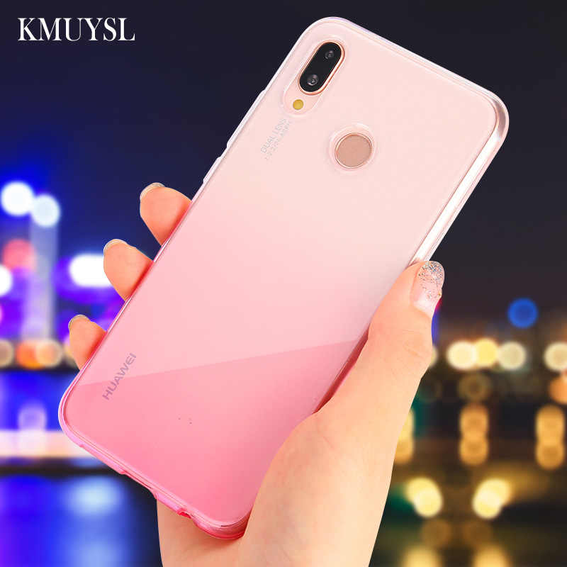 Gradient Case For Huawei P30 Lite Y7 Pro 2019 Y9 Y6 2018 Mate 20 Lite 20X P20 Pro Nova 4 3i Honor 8X 8C 7C 7A P Smart 2019 Cover