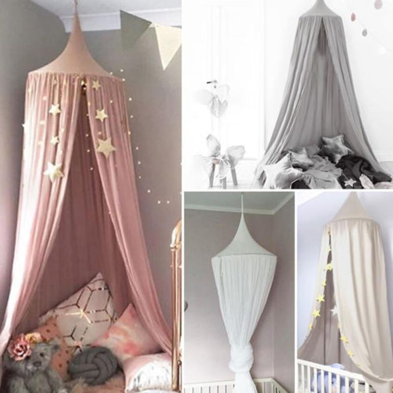 Nieuwe Baby Bed Gordijn Kinderen Babykamer Crib Verrekening Baby Bed Tent Katoen Opgehangen Koepel Kindje Klamboe Fotografie Props