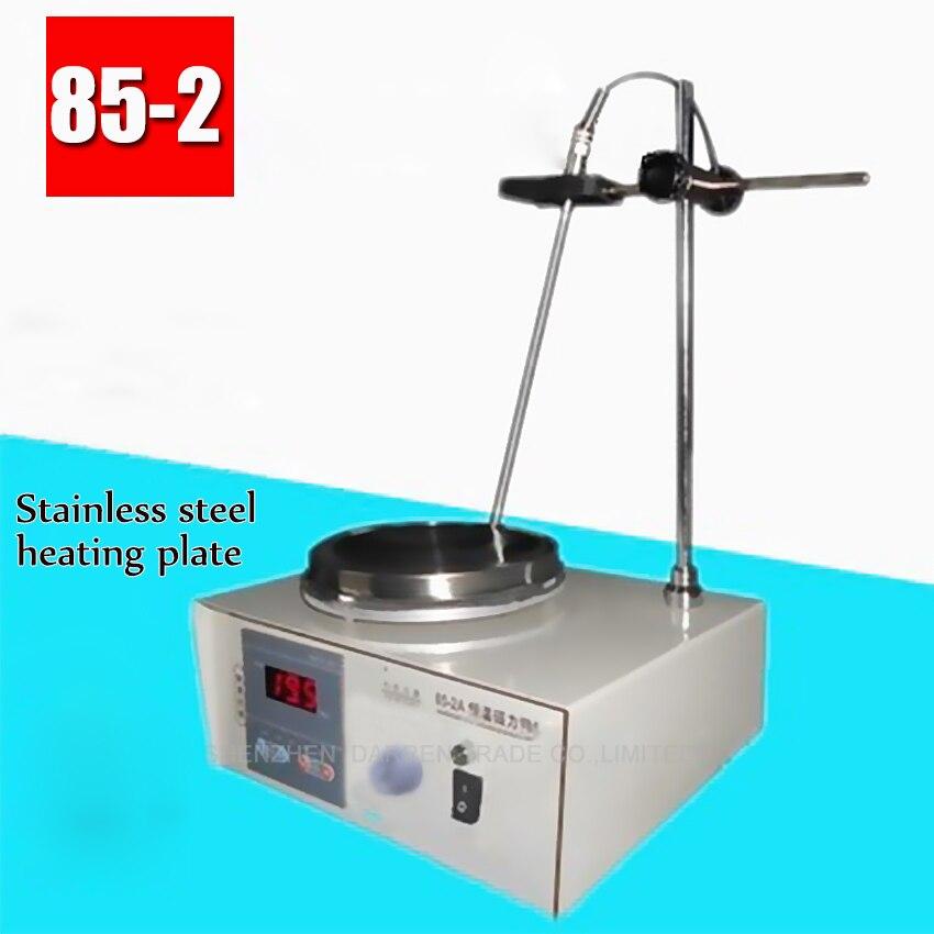 1PC 85-2 Lab Mixer Digital Heating Constant temperature Magnetic Stirrer 100-2000r/min 110V 200W 1000ML HOT lab stirrer mixer magnetic stirrer with heating plate hotplate mixer 220v temperature dispaly