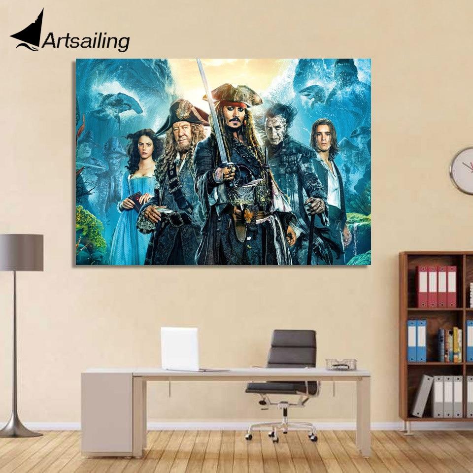 1-kusové plátno Umělecký plakát Piráti z Karibiku HD Obrazy na plátně Obrazy Obrazy domů Dekorace do obývacího pokoje XA1444C